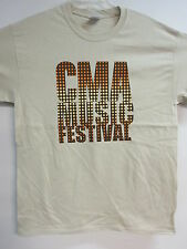NEW - CMA MUSIC FESTIVAL 2013 BAND / CONCERT / MUSIC TAN T-SHIRT EXTRA LARGE