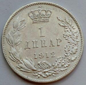 Serbia, 1 dinar 1912, King Petar I, silver coin