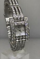 CHOPARD H WATCH WHITE GOLD LADIES FULL DIAMOND CASE & BRACELET! $103,050 RETAIL!