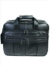"""Scully Leather 632 Black Leather Men's 17"""" Laptop Briefcase"""