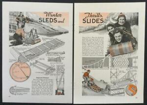 Sleds Toboggan Bob-Sleds 1940 HowTo Build PLANS Sledge Skip-Jack
