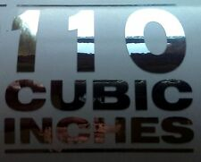 CHROME 110 CUBIC INCH decal FXSTSSE VTX 1800 Yamaha HD