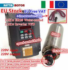 【IT】 2.2KW Water cooled spindle motor ER20 24000rpm 220V VFD Inverter CNC Kit