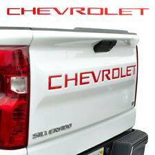 Red CHEVROLET Letters Tailgate Insert Emblem Silverado 1500 2500 3500 2019-2010