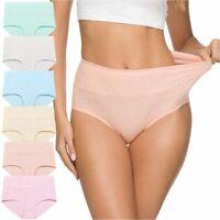 Wealurre Women's Comfort Cotton High Waist Underwear, Color Cotton, Size Large