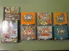 PC 8 LOT THE SIMS CD ROM DELUXE UNLEASHED SUPERSTAR VACATION PET HOUSE PARTY