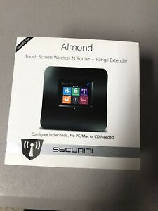 SECURIFI ALMOND TOUCHSCREEN WIFI ROUTER + RANGE EXTENDER/REPEATER