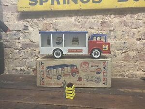 Vintage Nylint Pressed Steel Pepsi Cola Delivery Truck Box Rare Toy Sign 5500
