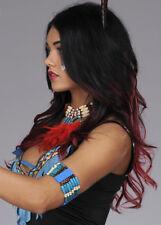 Blue Beaded Native Indian Squaw Bracelet