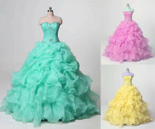 New Stock 2016 Quinceanera Dresses for 15 years Sweet 16 Formal Prom Party Gowns