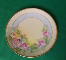 VINTAGE O & E. G. ROYAL AUSTRIA BREAD/BUTTER PLATE--RED & YELLOW ROSES