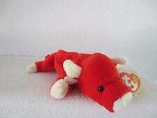 BULLS FANS! TY Beanie Baby Snort Red Bull 1995