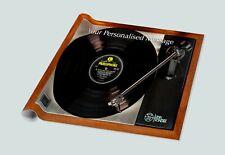 Custom gift paper of Linn Sondek LP12. Personalised wrapping for Vinyl lovers