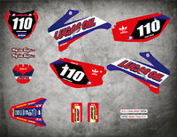 Custom Graphics Full Kit to Fit Yamaha TTR 110 ACTIVE STYLE stickers decals