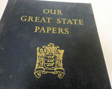 Our Great State Papers Hardbound Book 1966 Shiloh New Jersey