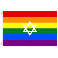New listing Gay Pride flag of Israel Flag variant used in Israel Flag 3x5ft banner