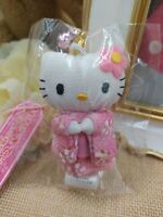 Sanrio Hello Kitty Plush Doll Keychain Kitty Pink Kimono Keychain Japan 2004