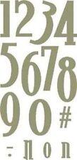 """Quickutz Alphabet Die 4x8""""  no.48 Number Set"""
