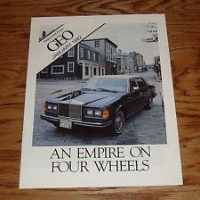 1982 GEO Rolls Royce Brochure Catalog 82 Silver Wraith Phantom Corniche