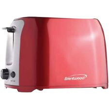 BRENTWOOD TS-292R 2-Slice Cool Touch Toaster Red & Stainless Steel