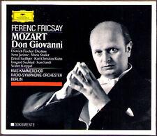 Mozart DON GIOVANNI Fischer-Dieskau Stader Jurinac seefired Häfliger Fricsay 3cd