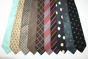 LOT OF 10 GIORGIO ARMANI  silk ties MADE IN ITALY. F16694