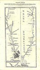 Carte antique, Édimbourg pour Glasgow