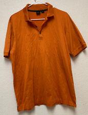 "Hugo Boss Golf Men's Polo/Golf shirt Orange Pit To Pit 22"" Length 28"" Sz L"