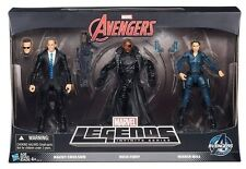 MARVEL LEGENDS SHIELD 3 PACK AGENT COULSON NICK FURY MARIA HILL TRU EXCLUSIVE