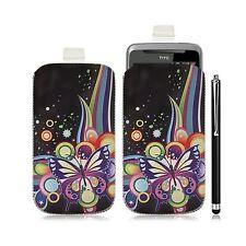 Housse coque étui pochette pour HTC Desire Z avec motif HF05 + Stylet luxe