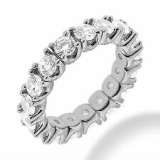 4.02 ct Round Diamond Eternity U shape Band 14k White Gold, 16 x 0.25 ct each