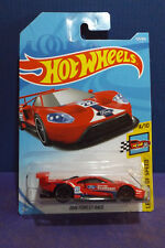2018 Hot Wheels New RED 2016 FORD GT RACE, HW LEGENDS of SPEED 4/10 Long Card