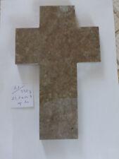 41/ grande  croix sans Christ en marbre old marble crucifix  FRENCH