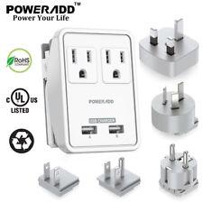 Dual USB UK/AU/EU/JP/US Travel Adapter Plug Dual Wall Outlets Charger 100V~240V