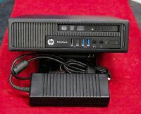 HP 800 G1 USDT 256GB SSD+500GB HDD Intel Core i5 Quad 4th Gen 2.9GHz Win10Pro