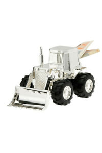 Children Money Box Tractor Silver Metal Bagger Money Gift Money Save