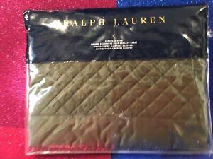 NEW MSRP $145 RALPH LAUREN Greenwich EURO PILLOW SHAM Tweed Green COTTON SATEEN