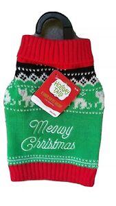 Pet Cat Christmas Sweater Petco new