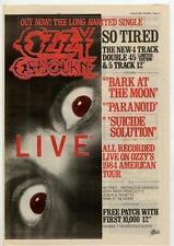 Ozzy Osbourne UK 45' advert 1984
