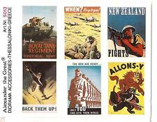 Alexander The Great WW II British Posters in 1/35th Scale Diorama Detail S013