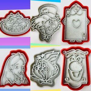 Alice In Wonderland Set Of 6 Cookie Cutters