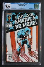 CAPTAIN AMERICA #332 Cap RESIGNS 1987 Patriot U.S. Agent TV Zeck FLAG CGC 9.6
