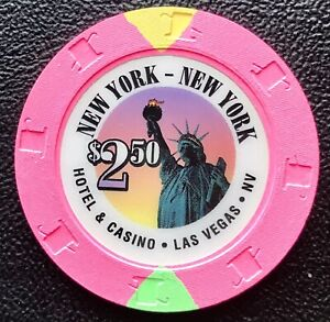 New York  New York Casino, Las Vegas, Nevada, USA $2.50 Casino Chip/Jeton
