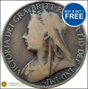 PENNY Victoria Old Head Choose your Date 1895-1901 FREE P&P All Date