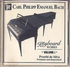 C.P.E. Bach - Preethi De Silva: Keyboard Works, Vol. 1 (MHS) Like New