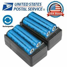 4X 18650 Battery 3.7V Lithium Rechargeable Batteries+ 2X Smart Charger UltraFire