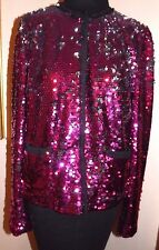 Dolce&Gabbana fuchsia/silver black trim  evening Jacket sz 44/ US  8 NEW w Tags