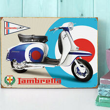 Large Lambretta SX150 Special Tin Plate 'Target' Wall Sign - Scooter/Garage/MOD