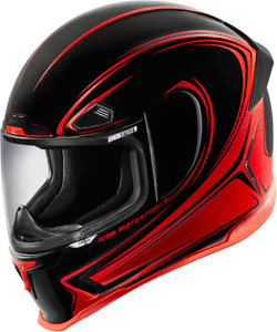 Icon Small Airframe Pro Halo Red Full Face Motorcycle Helmet