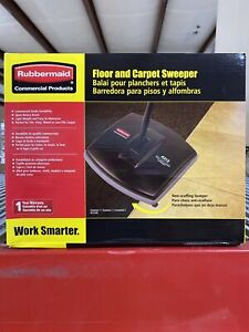 "Rubbermaid 44"" Floor & Carpet Sweeper (Bk/Gray) 421288BLA NEW"